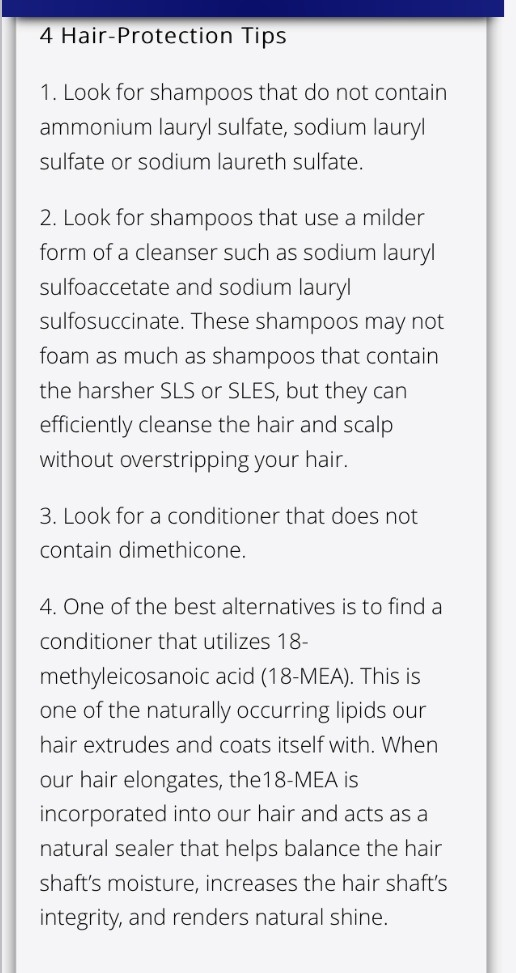 Thanks for checking out my tip :)   Also look for hair care products that don't contain dyes. Like red 40. ✌️