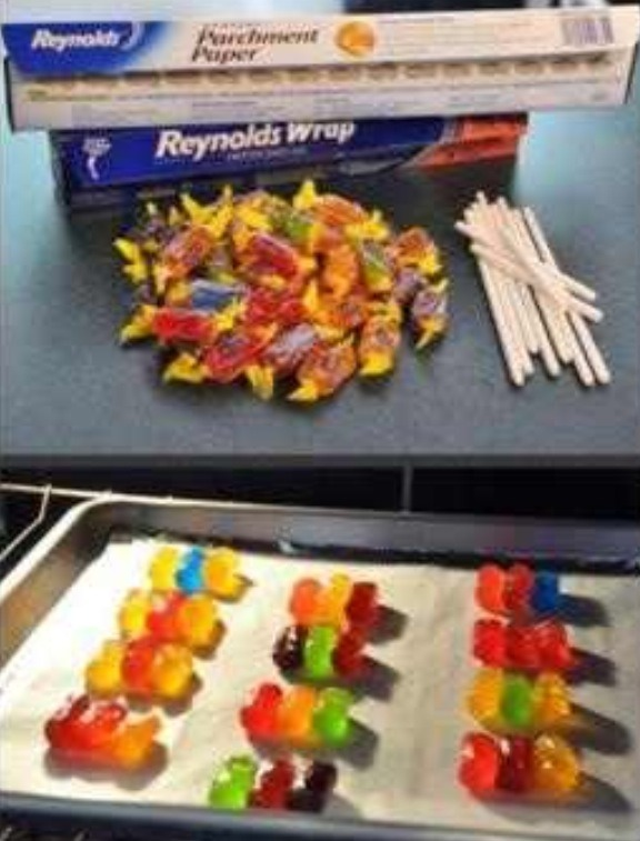 Make sure you use wax paper to melt the candies