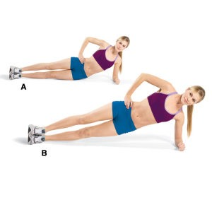 I call these side plank bends (I forgot what there called) just do a side plank the bend your hip up and down do 30 of these 2x a day