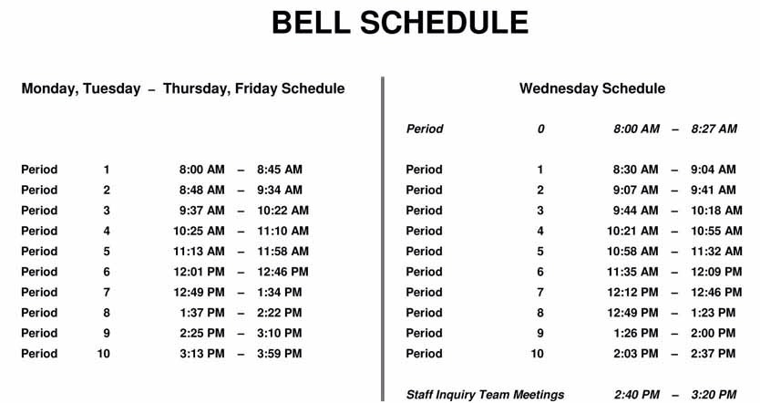 Make sure to have your schedule! So you don't forget what class you are going to. (Here's a tip.....take a picture of your schedule a put it as your screensaver!!!