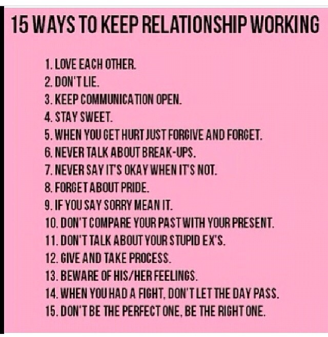 how to keep the relationship