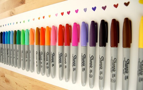 Any colored sharpie.