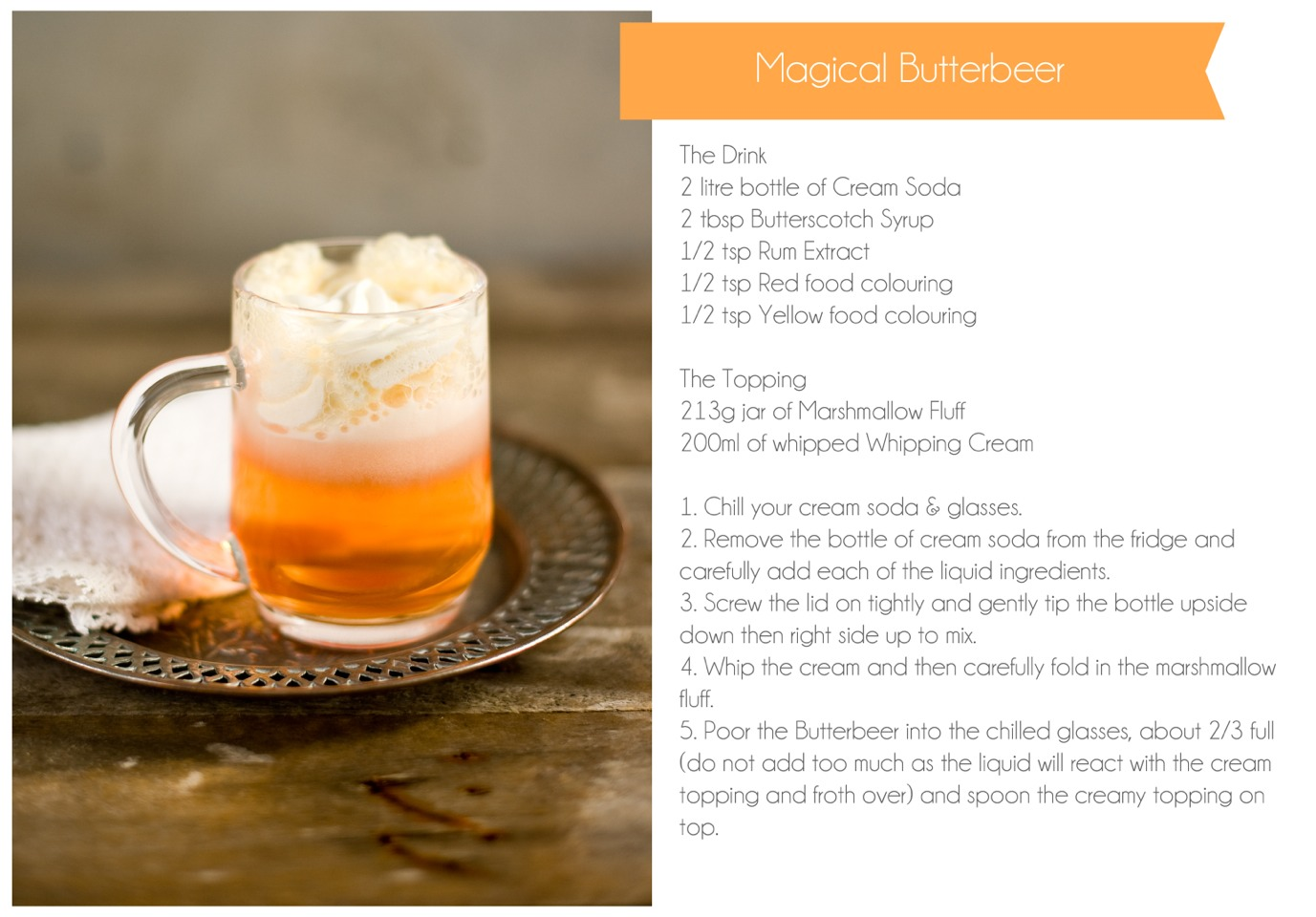 Musely 3 easy harry potter butterbeer recipes forumfinder Images
