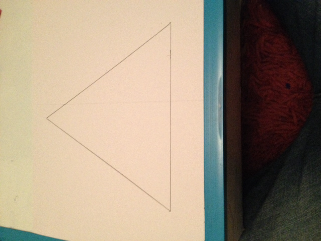 Draw an equilateral triangle