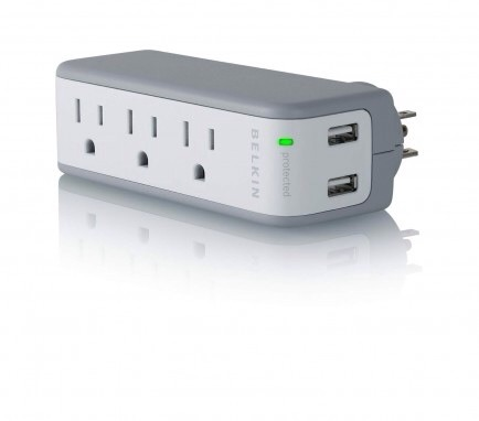 Pack a Power Strip  It can be hard to locate a power jack in an airport to charge one device, what to speak of two or three. A small power strip like this one from Belkin is perfect for travel and works well when you're trying to charge all of your devices, whether it be at the airport or hotel