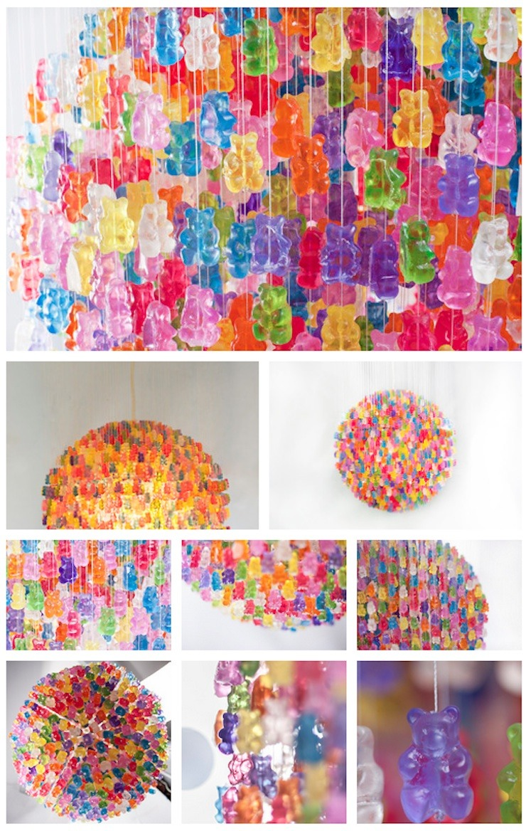 Musely a chandelier made entirely out of gummy bears arubaitofo Image collections