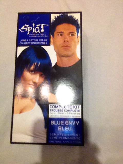 Blue envy splat is a great hair dye I would recommend getting your hair bleached or toned professionally