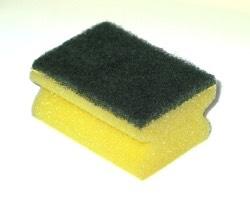 A washing up sponge