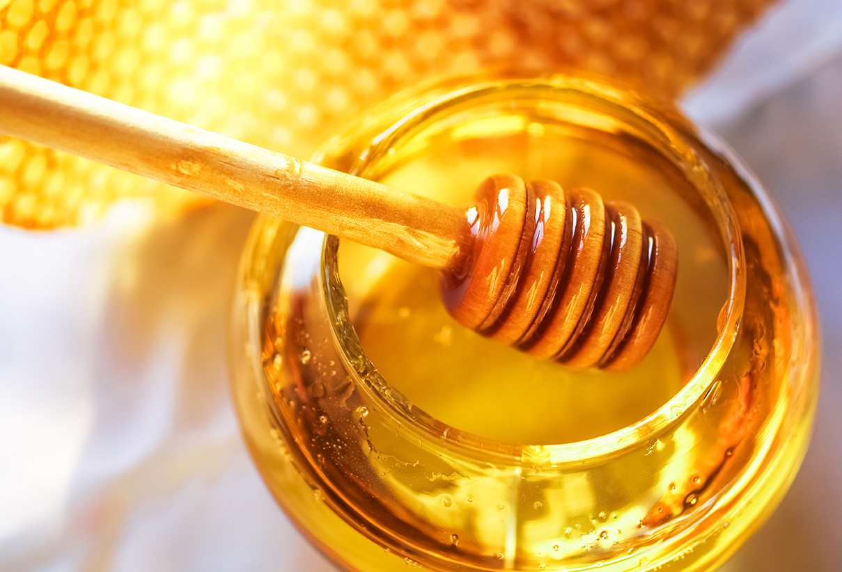 Add in 2 tablespoons of honey