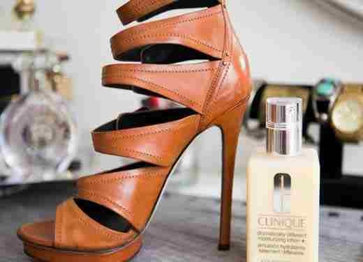 13. Mend dull or scratched leather shoes with moisturizer.    If you don't have shoe polish (Who does?), grab a towel and rub your shoes with a bit of lotion to bring them back to life.