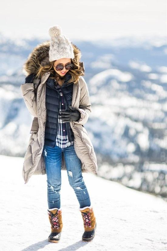 16. Cute Snow Outfit