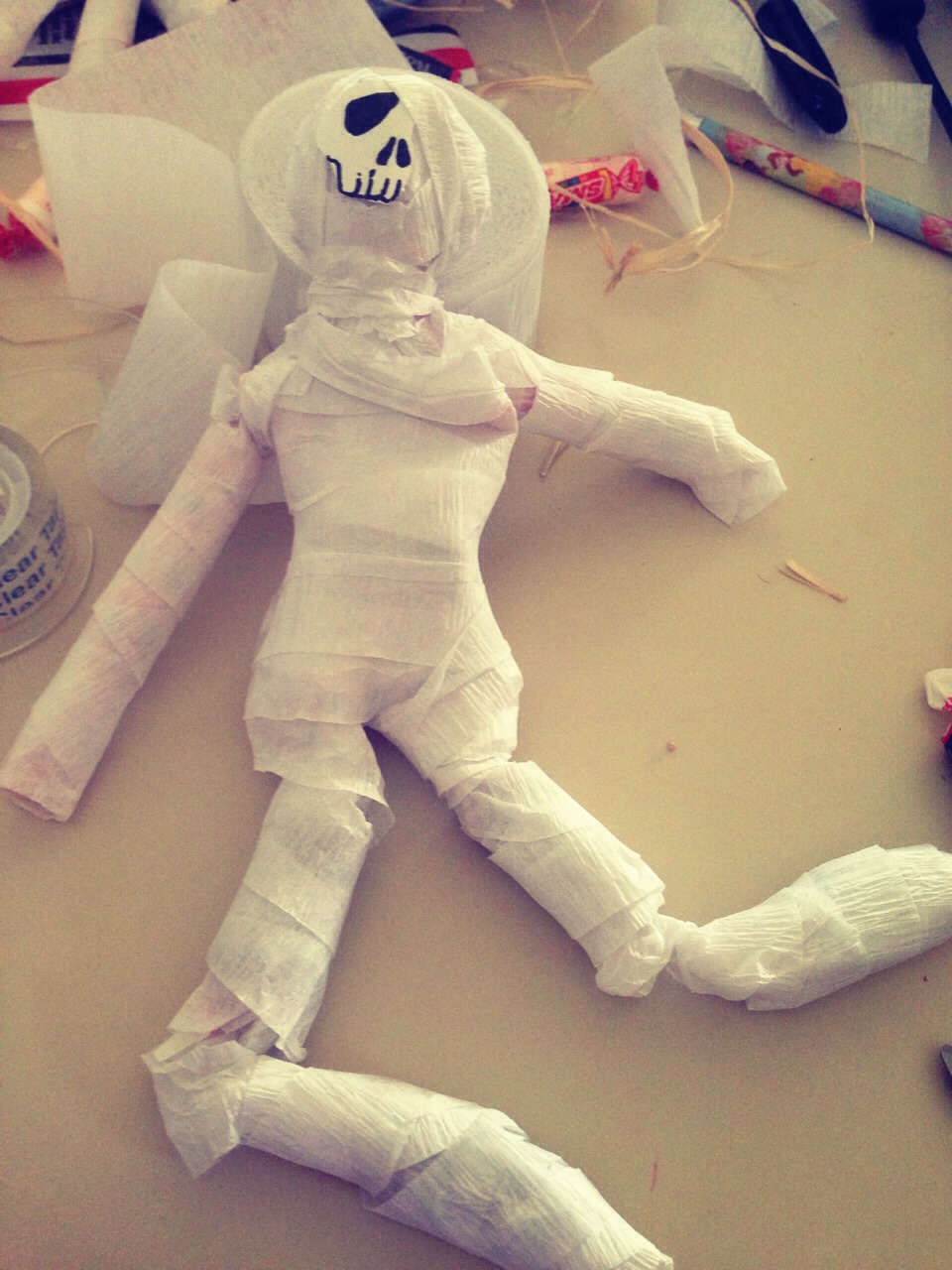 And your mummy is finished!
