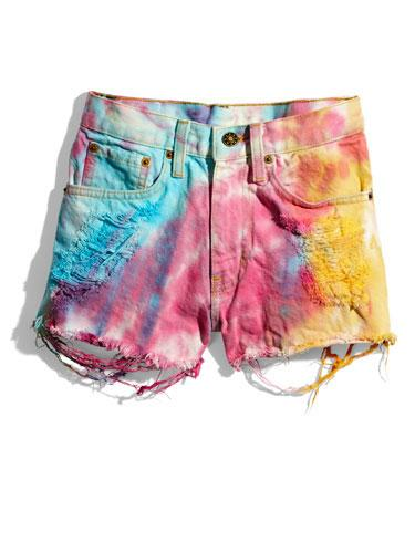 Tie Dye Shorts These fun cutoffs will look ah-mazing over a sporty one-piece bathing suit!  Fresh Tops shorts