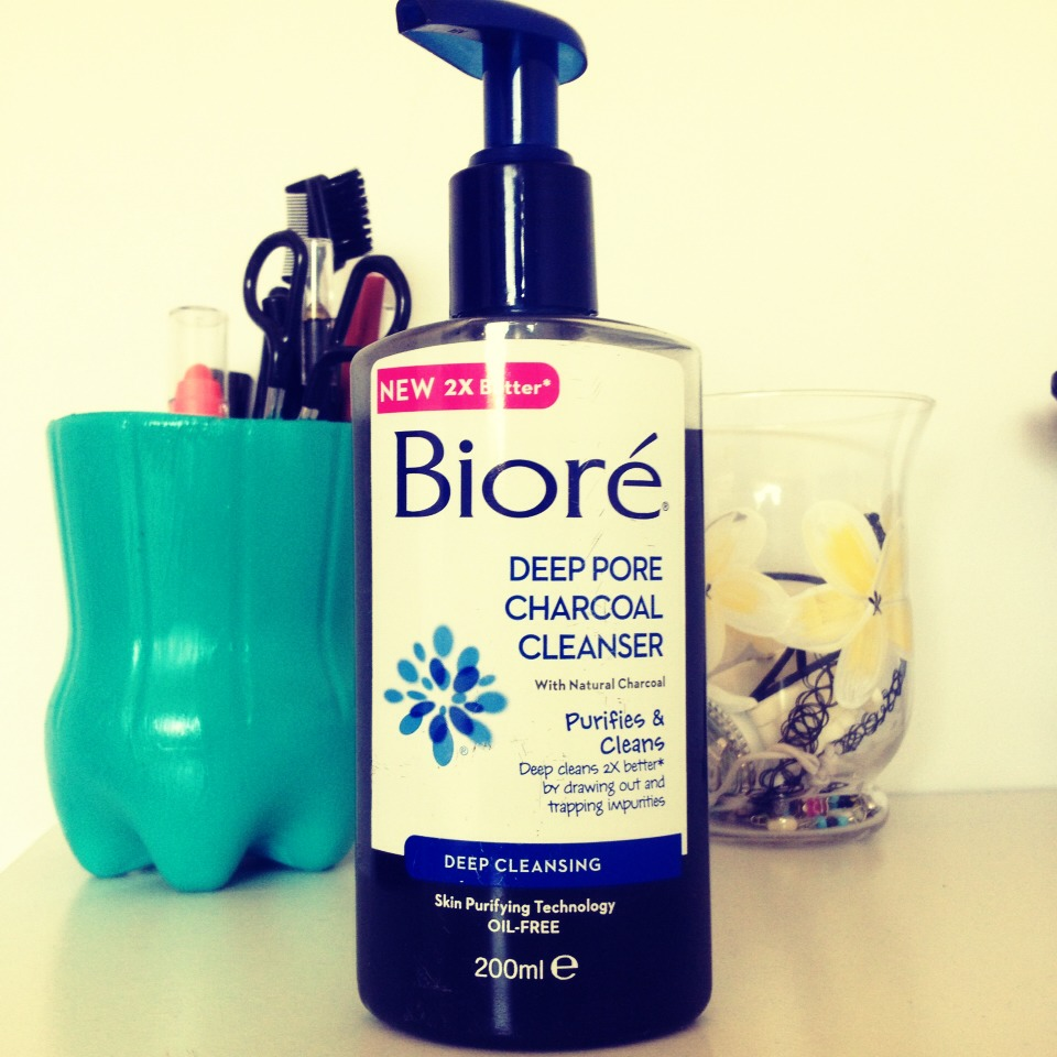 I highly recommend this cleanser, its the best bioré product i have used.  This product contains Natural Charcoal which is known for its ability to draw out impurities.  Pores are twice as clean after just one use, literally!