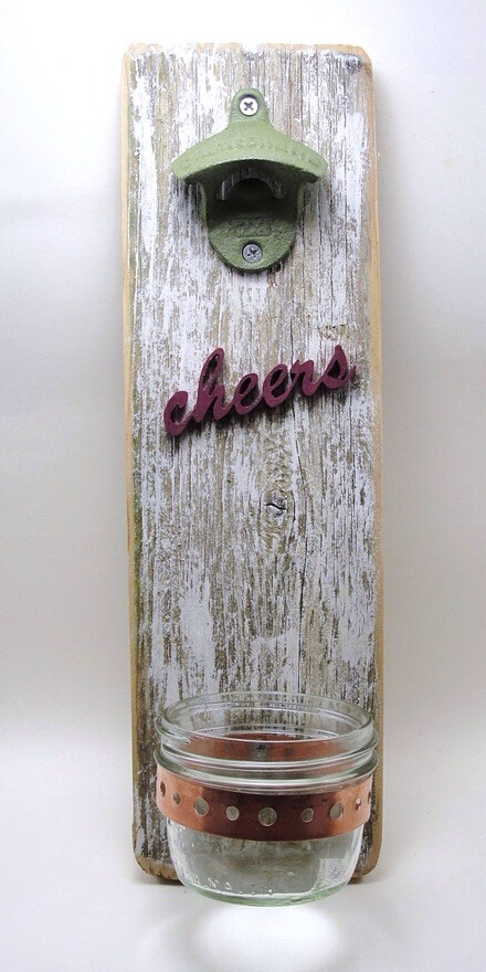 3. Repurposed Pallet Bottle Opener