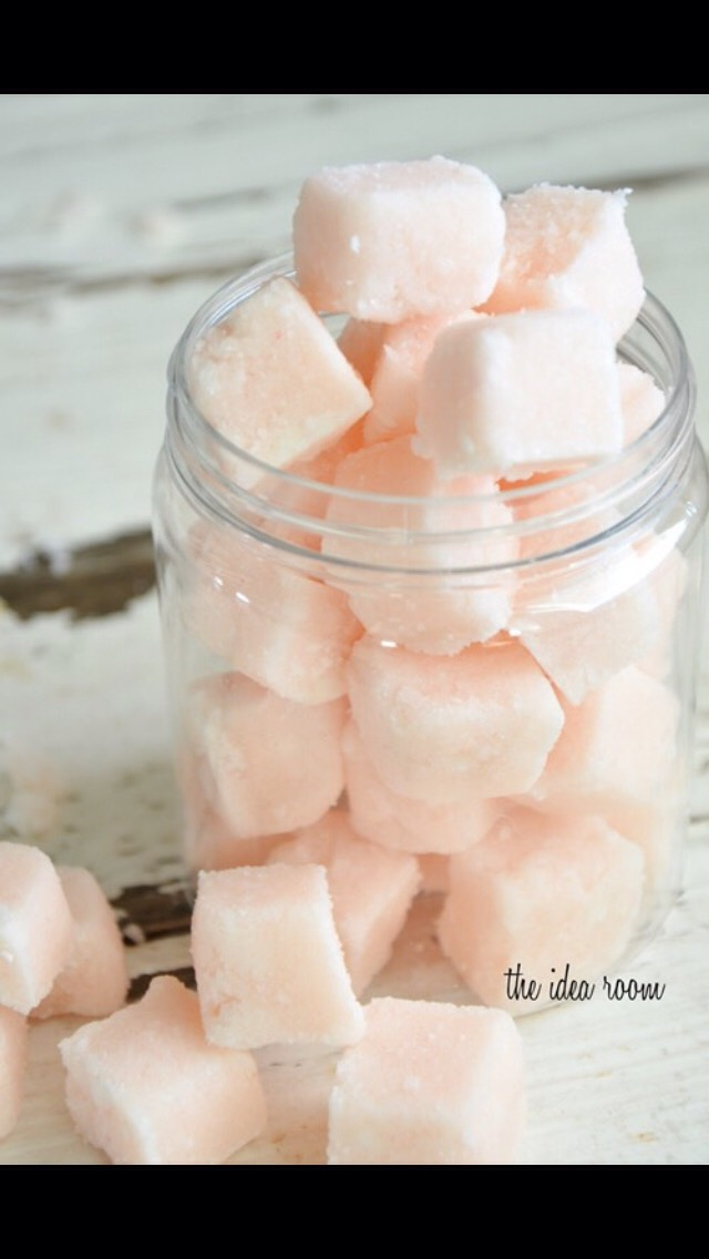 Let cubes harden by popping them into the freezer for at least 30 minutes.  Then pop them out of the mold and cut them into fourths depending on the size you would like them to be.