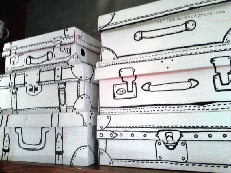 These are shoeboxes.