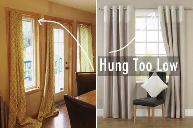 5. Hang your curtains higher.