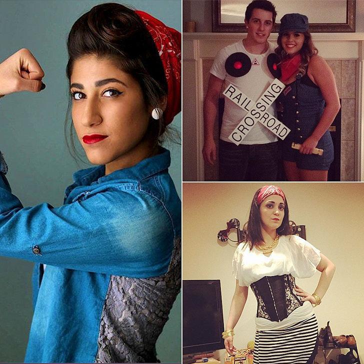 Costumes: Rosie the Riveter, train conductor, pirate  Bandana Paisley Bandanas ($1)