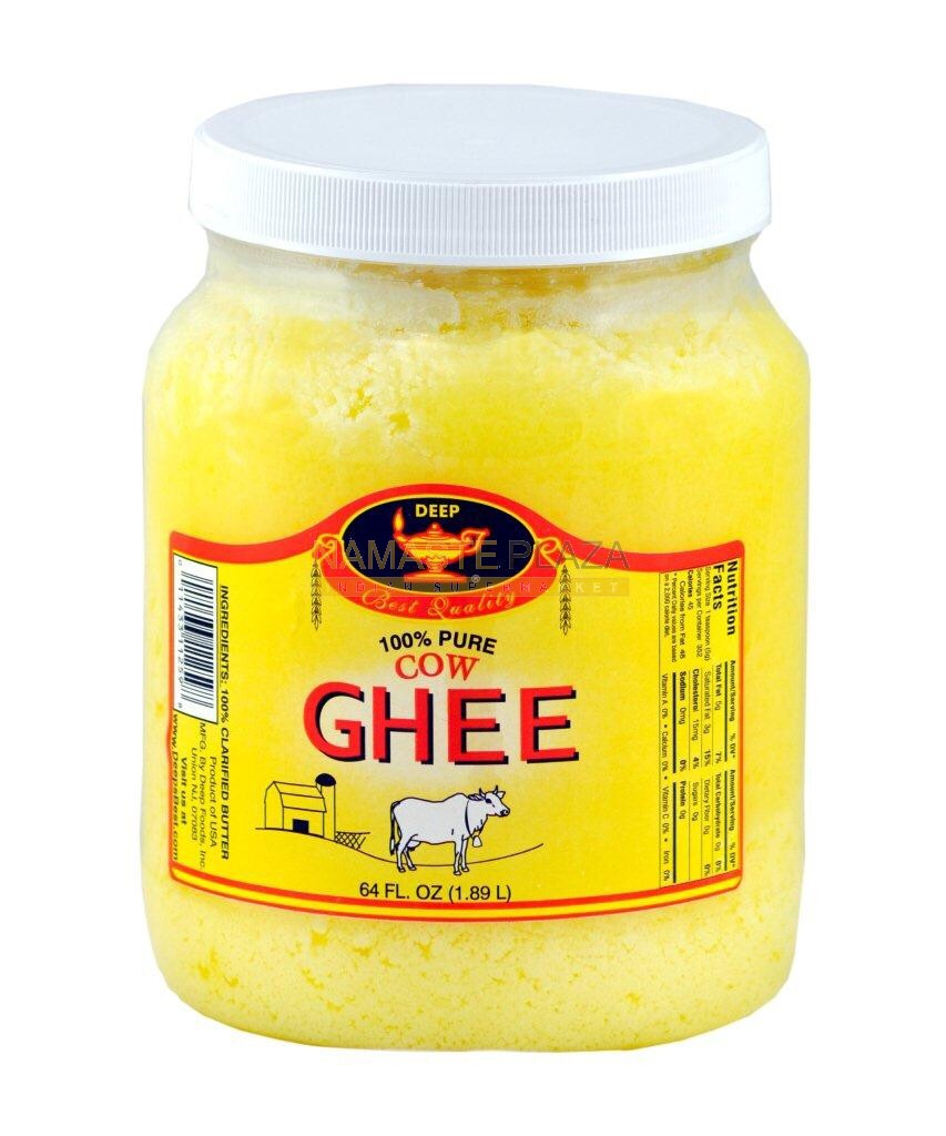 Last you'll need some ghee. Yeah I know it sounds weird and just gross but trust me it works. Put 1/3 of the amount needed for your hair in the bowl. If you do not have ghee that's okay. You can eliminate this from the conditioning or replace it with another oil.