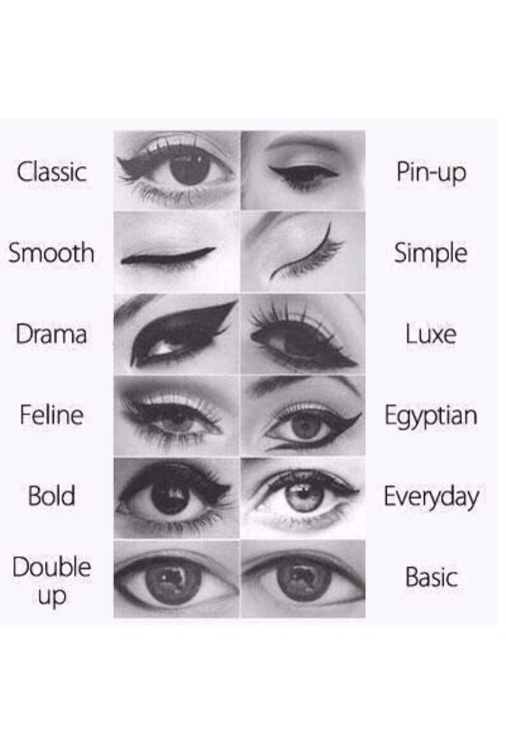 Different ways to wear eyeliner!