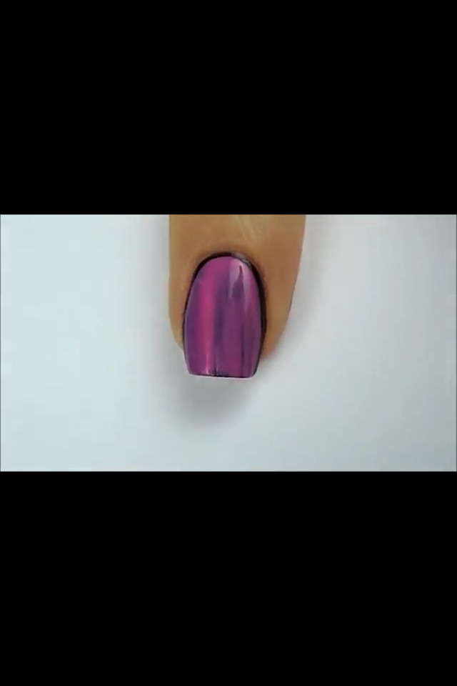 Paint two layers of pink nail polish