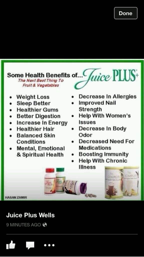 benefits of being on Juiceplus x