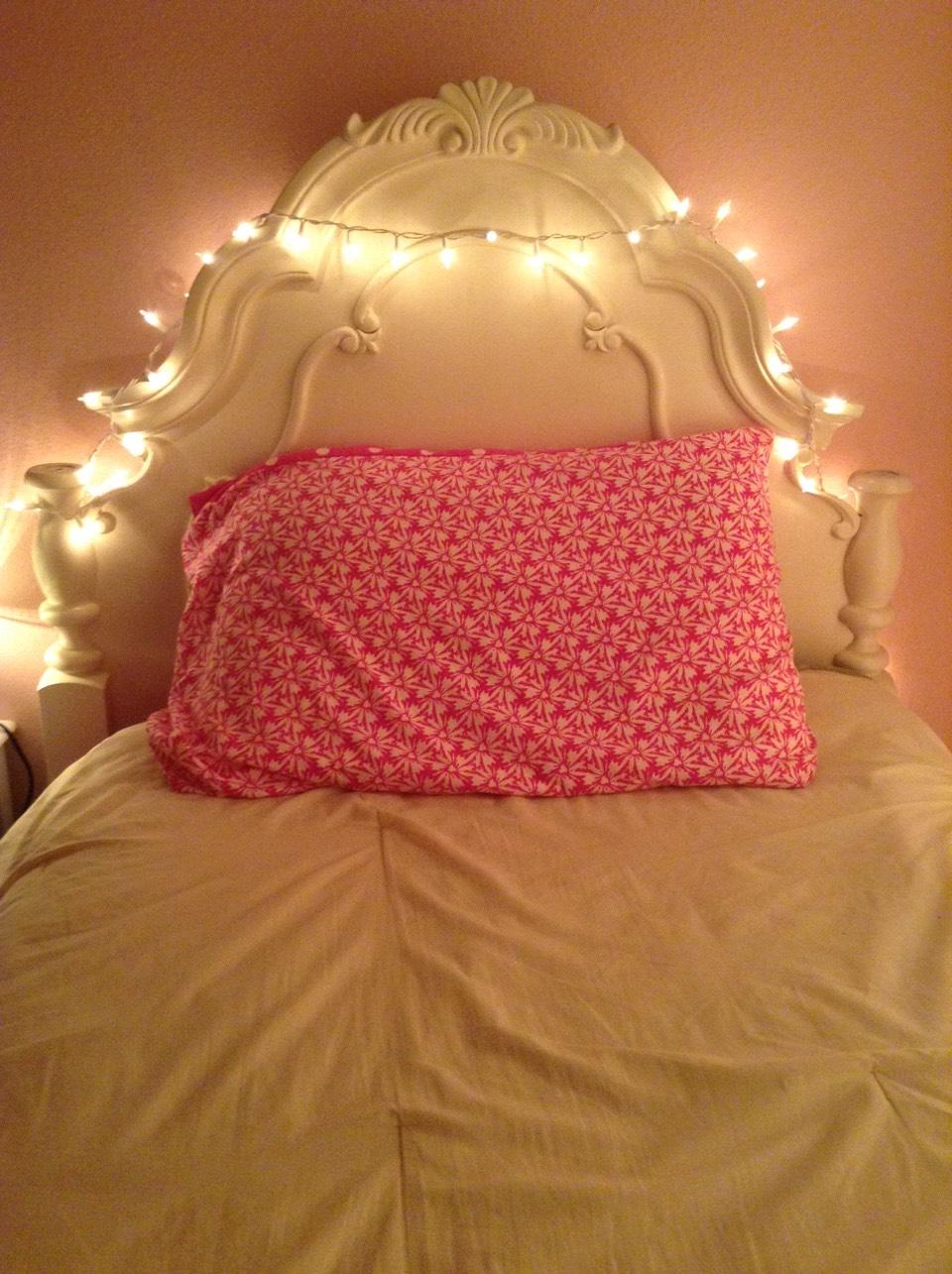 Put lights around your headboard