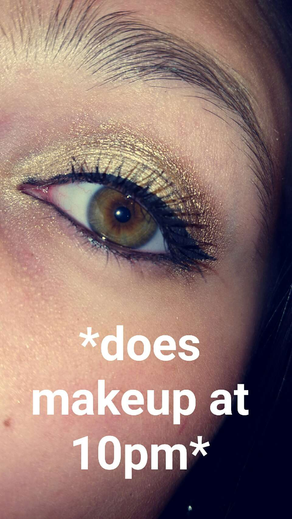 All I used is the Maybelline Color Tattoo in Barley Branded and Bronze along with the E.L.F. Liquid Eyeliner