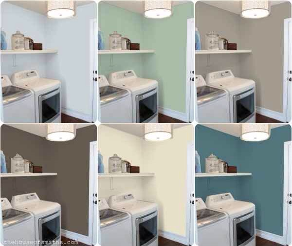 31. This handy website lets you see how your room will look with different paint colors. So relieved we live in an age where this exists. Check it out here: http://www.mycolortopia.com/color_previews