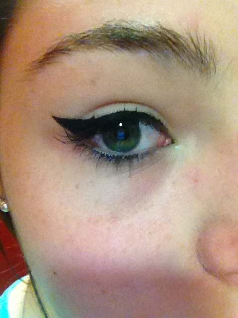 You now have a perfect or close to perfect winged eye.