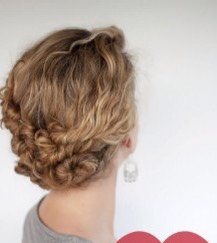 Create small twirls by twisting small sections or you hair from both sides..then pin down with bobby pins!
