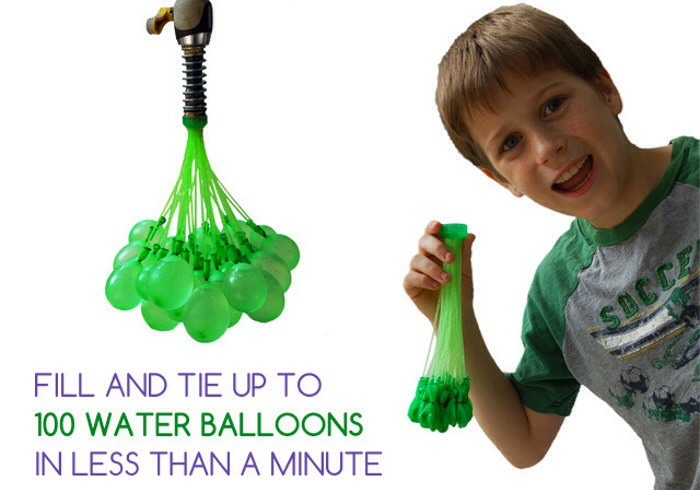 1.  Fill up your water balloons (above is a quick trick using an old bottle lid to fill them all up at once). Use a tap or a hose or a special pump. You could even use a water gun, by putting the water balloon through the nozzle of it. If you don't have water balloons, use regular ballooons!