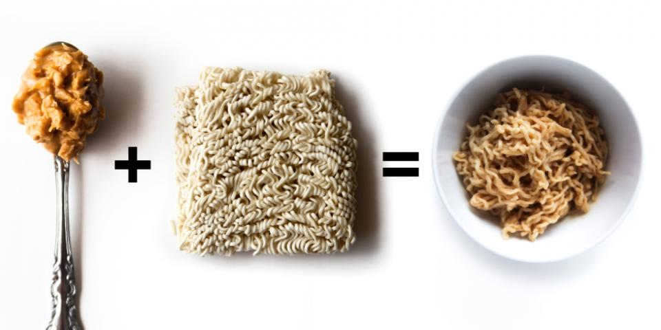 2. Crunchy Peanut Butter + Ramen = Satay Noodles