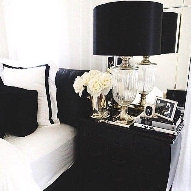Go black and white You might think that black and white decor won't give your apartment the color splash it needs, but for small spaces, a black and white theme can make walls look less cluttered and rooms look bigger and more luxurious.