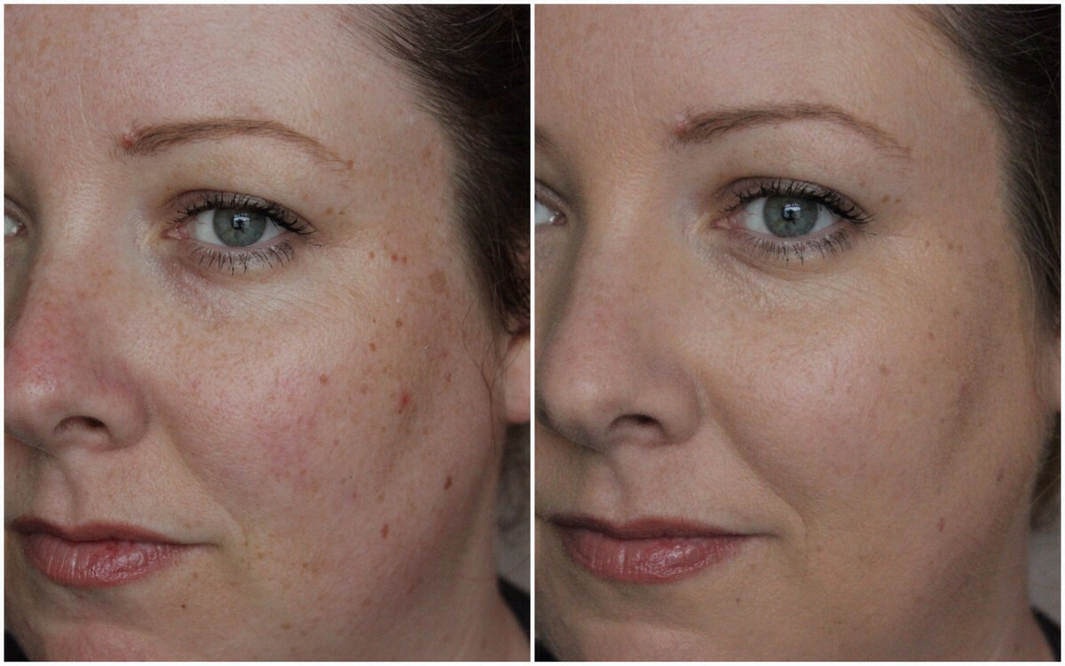 Garnier bb cream before and after