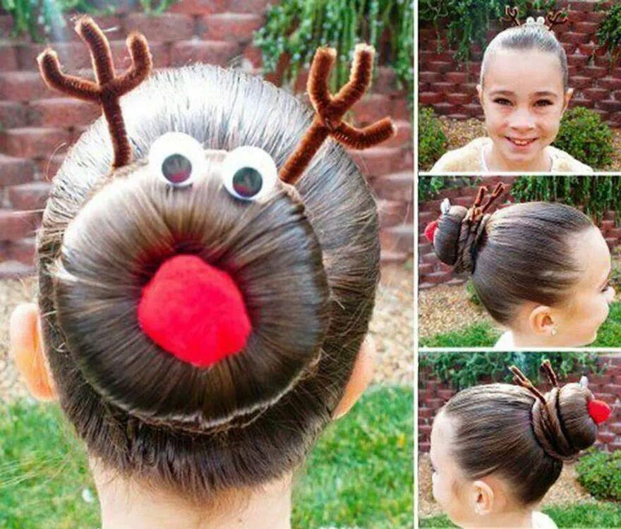 Cute Christmas Hairstyle For Kids!! ;) by Harpreet Sohal