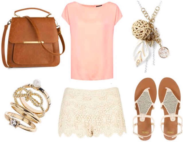 Lace shorts: day