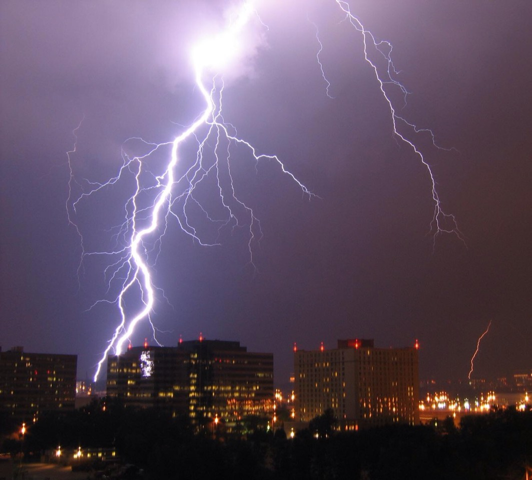 Lightning strikes the Earth about 8 million times a day