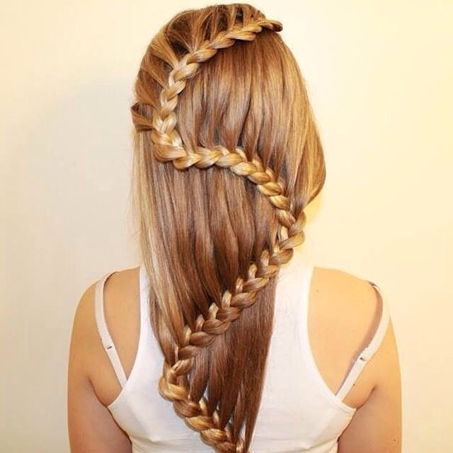 Snake Braid Remember those push-pop popsicles from elementary school? This braid is just like that! You create a regular three-strand plait. While holding one section in place, you push the remaining two pieces upward.