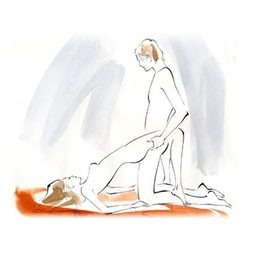 How You get into a partial bridge position, with your weight resting on your shoulders. He enters you from a kneeling position.  Benefit It allows him easy access to stimulate your clitoris and massage the mons pubis.  Bonus Throw one leg up against his shoulder for deeper penetration.