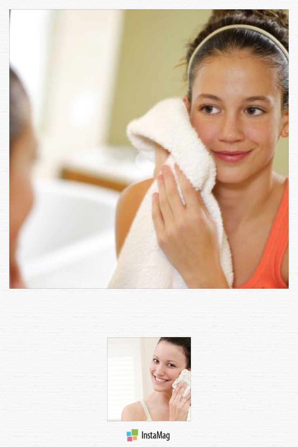 --> Press your face against a warm, damp towel and wipe away any residue.