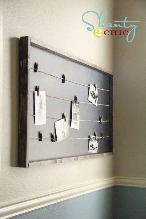 Build a string-lined memo board.