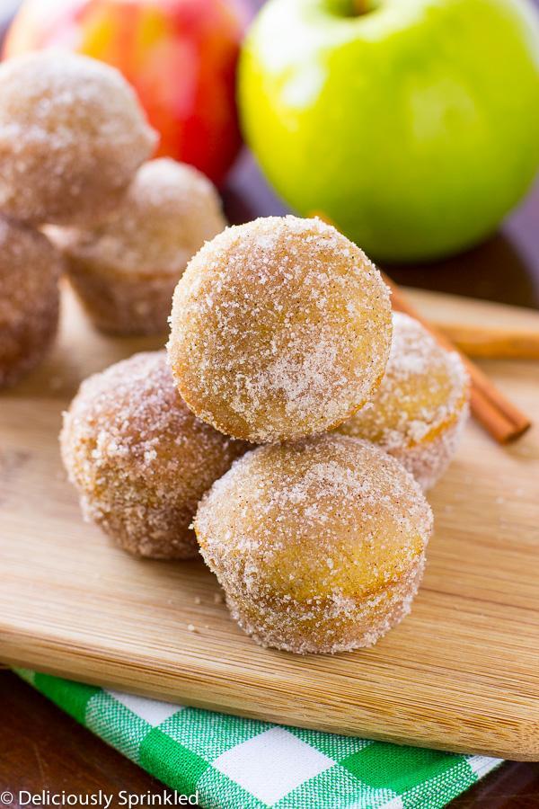 Follow this recipe for apple cider doughnut holes!