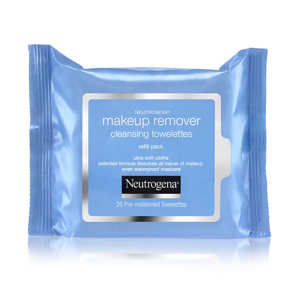 After the day, I remove my makeup with makeup removing wipes, then wash my face again at night.