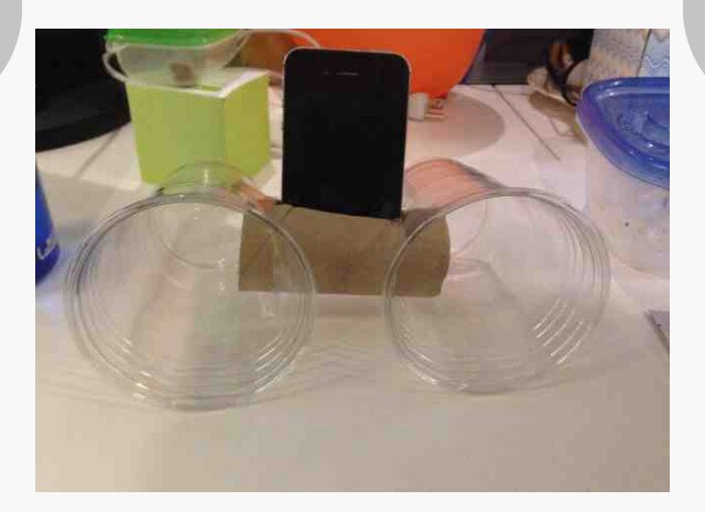 Disposable cups + toilet paper roll= iPhone speakers