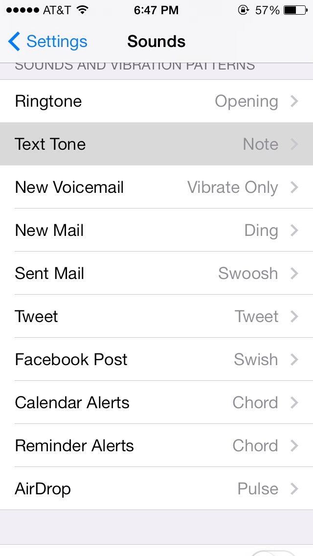 Select 'text tone'