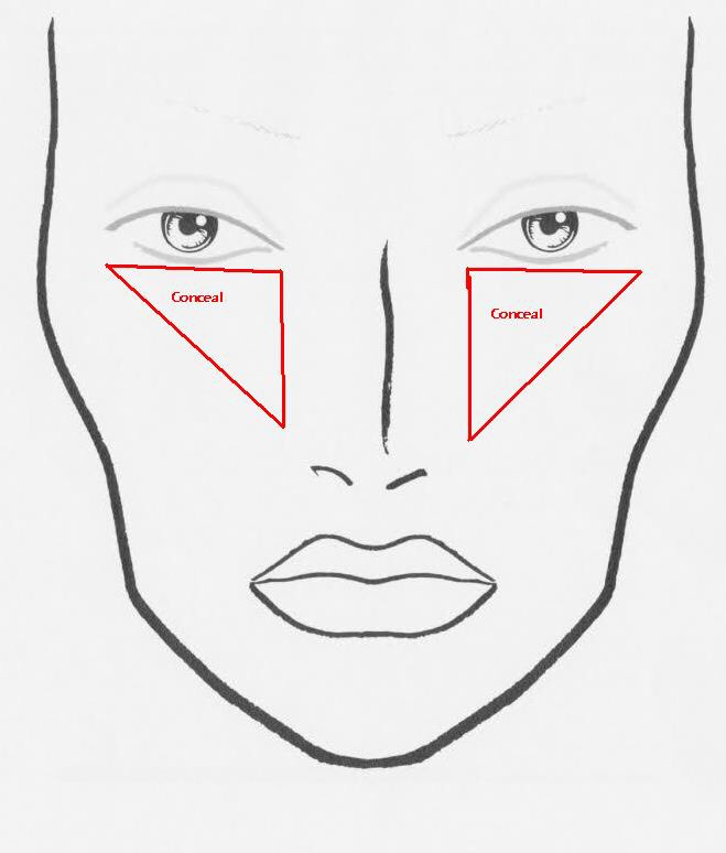 Apply concelear in a triangle to highlight and conceal at the same time