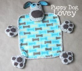 Take a baby blanket and attach paws and a head to make a cuddle blanket!