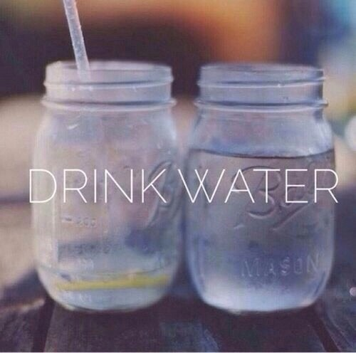 Drink a lot of water! Replace you sweet drink by a glass of water... Try to drink 8 glass a day!